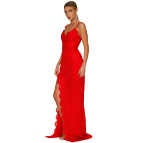 cab56bdba Vestido Rojo Para Fiesta Largo - Vestidos Largos de Mujer Textura en ...