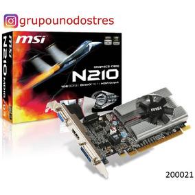 200021 Tarjeta Video Msi Vga Geforce N-210 1gb Ddr3 64bit Dx