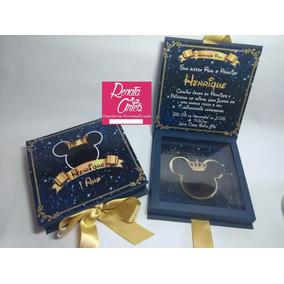 Arquivo Digital Caixa Convite Mickey Realeza