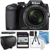 Nikon Coolpix B500 Negro, Tarjeta De Memoria Sd De 32gb, Est