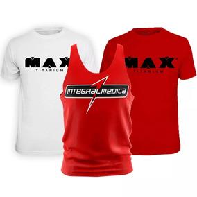 b85b30f39 Kit 3x - Camisa Branca Max + Vermelha + Regata Integral