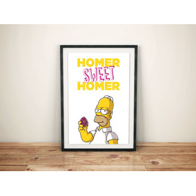 Poster Em Papel Adesivo (os Simpsons) Homer Sweet Homer