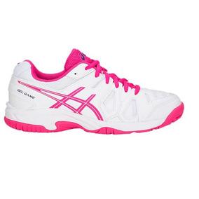 b83d9634289e6 Tênis Asics Gel Game 5 Gs Feminino Infantil Branco rosa. R  309