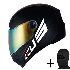 Capacete Moto Zeus 811 Preto Fosco Logo
