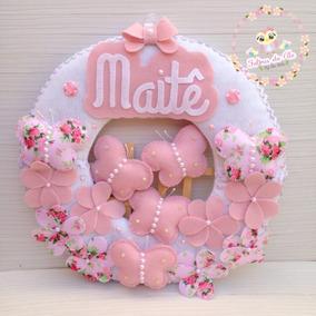 Enfeite Porta Maternidade Ursinho No Balão Feltro · R  160 152dd1373025a