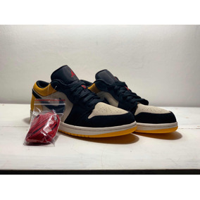 Sneakers Originales Jordan 1 Low Sail University Gold Black