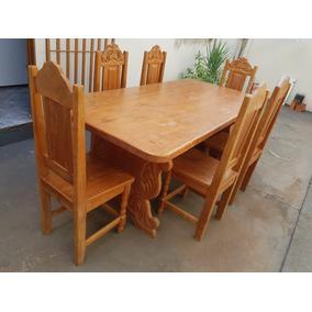 Mesa De Cerejeira Com 6 Cadeiras
