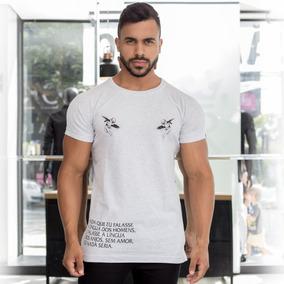 Camisa T-shirt Com Silk Camiseta Algodão Blusa Sensation On