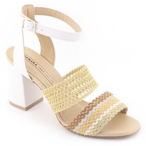 b49432f68 Sandalia Bordada Branca Feminino - Calçados, Roupas e Bolsas no ...