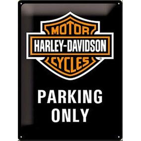 Harley Davidson Placa Parking Only Large Embossed Original