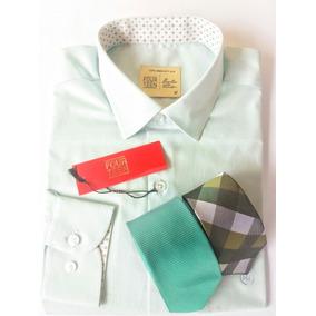 Kit Green Exclusivo 1 Camisa + 2 Gravatas Tamanho M