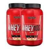 2x Whey Protein 100% Pure 907g - Integralmedica + Brinde