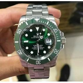 Relógio Masculino Verde / Prata Automático Safira Resistente