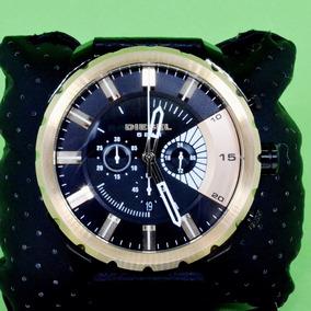 Relógio Pulso Masculino Diesel Aço Rose Couro Preto Dz4390