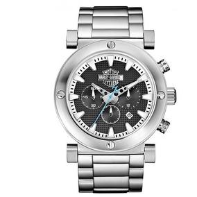 11f4eaed6aa Bulova 76b147 Harley Davidson Collection A O Prata 42mm - Relógios ...