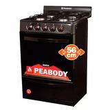 Cocina A Gas Clasica 56 Peabody 4 Hornallas Negra + Env **10