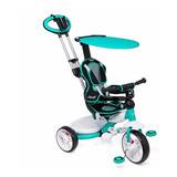 Triciclo Infantil Bebe Con Manija Capota Frenos Respaldo