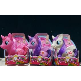 Pony Set De 3 Ponys Hermosos Juguetes Para Niñas 10cm