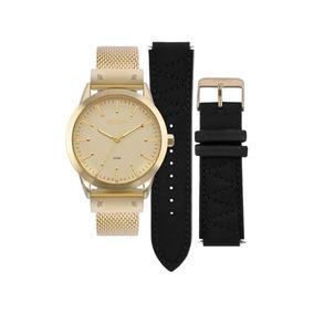 Kit Relógio Euro Dourado Feminino Analógico Eu2035yok/4d