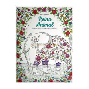 Livro Adulto P/ Colorir Reino Animal Ciranda Cultural
