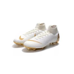 14311cd1ff7cf Chuteira Cr7 Branca Dourada - Chuteiras Nike de Campo para Adultos ...
