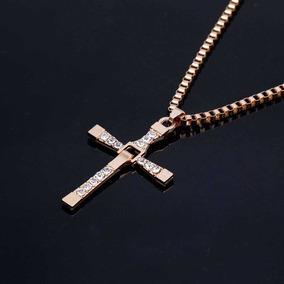 Kit Com 5 Colares Folheados Masculino, Corrente-crucifixo