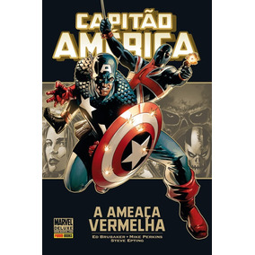 Hq Capitão America A Ameaça Vermelha - Panini Marvel Deluxe
