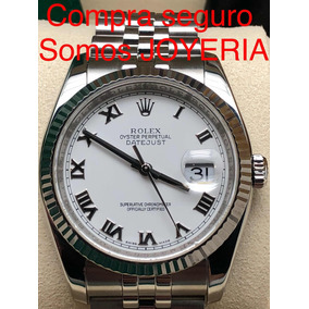 Rolex Datejust Acero Moderno Impecable Con Manual Estuche