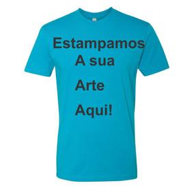 Camisetas Cor Azul Turquesa E Personalizada P Ao Gg