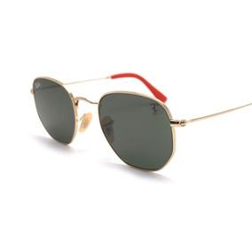 Oculos Rayban Hexagonal Vermelho - Óculos no Mercado Livre Brasil 4596df5be0