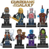 Kit 8 Bonecos Lego Guardiões Da Galáxia - Gamora Peter