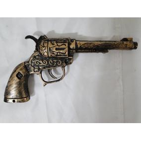 Arma Pirata 22cm P/ Festa Fantasia Revolver Jack Sparrow