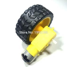 Kit Com 2 Rodas + Pneus + Motor Dc 3 A 6v Arduino Redução