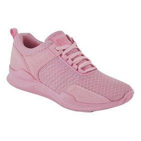 Dtt Tenis Sneaker Everlast Niñas Textil Rosa 70266