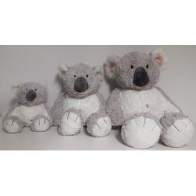 Kit Família De Coalas De Pelúcia 3 Bichos Koala- Manuque