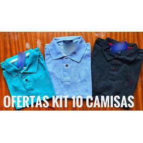 Kit Revenda 10 Camisas Polo Plus Size Masculina Xg Xgg Xxg 38ad51109d69e