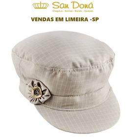 Boina Donatela Xadrez Bege Branco 54 A 61 Aba 4 San Dona d00aaefc223