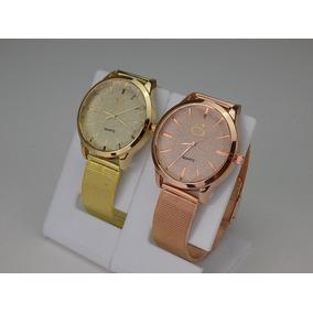 fe2446cfa5fc5 Relogio Feminino Dourado - Relógio Feminino no Mercado Livre Brasil