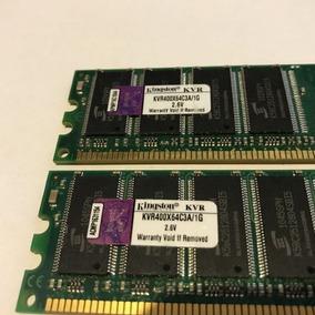 Memória Kingston Ddr400 1gb Kvr400x64c3a/1g Original - Novas