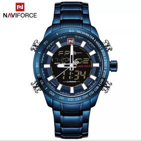 Reloj Naviforce Para Hombre Modelo 9093 Azul Digital Análogo
