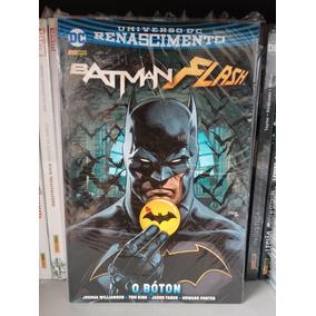Batman Flash O Bóton Dc Renascimento Capa Cartão Panini