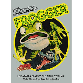 Pôster Video Game Retrô Atari 2600 Frogger # 1 - 30 X 45 Cm