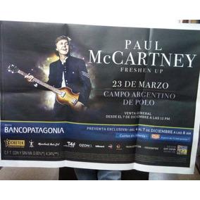 Paul Mccartney Freshen Up Marzo 2019 Afiche De Calle / Kktus