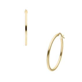 370cbfd2eed0 Preciosas Arracadas Grandes Y Delgadas En Oro 14k - Aretes Oro en ...