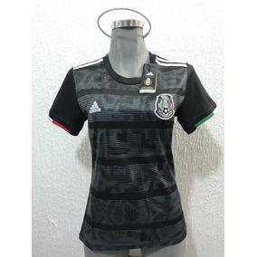 c2373429a8f Jersey Playera Mexico Dama 2019 Copa Oro Negra Mujer Lozano