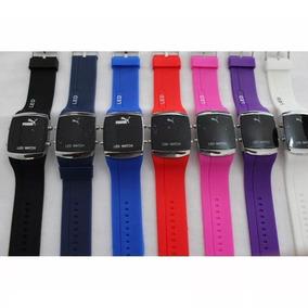 Kit 5 Relógios Silicone Led Digital Unisex + Caixa Atacado