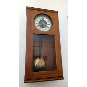 Reloj De Pared De 2 Cuerdas Antiguo De Coleccion