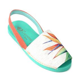 Sandália Avarca Botânica Strelitzia - Cup Shoes