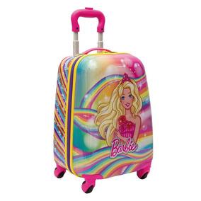 Malinha Infantil Escolar Barbie Rosa Abs Rodinhas 360 Sestin
