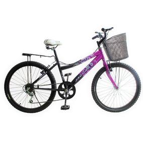 Bicicleta Lady África Rod 24 Equipada 6 Velocidades Montaña